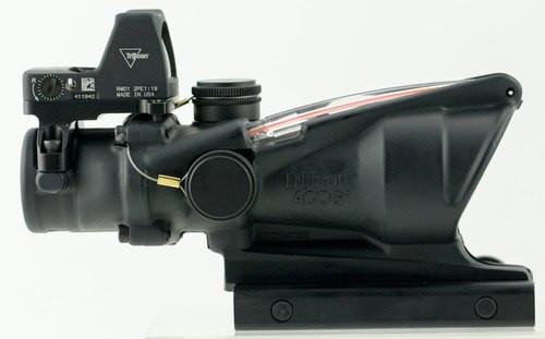 Trijicon ACOG 4x32 with RMR Type 2 4x 32mm Obj 36.8 ft @ 100 yds FOV, 100549