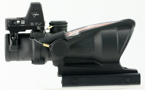 Trijicon ACOG 4x32 with RMR Type 2 4x 32mm Obj 36.8 ft @ 100 yds FOV, 100550