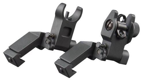 Aim Sports 45 Degree Low Profile AR Flip Up Sights Aluminum Black