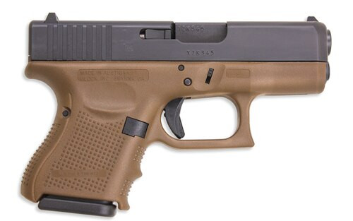 Glock G26 Gen4 9mm Flat Dark Earth Frame 10 round