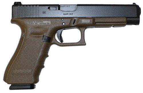 "Glock G34 G4 Flat Dark Earth 9MM,  5.3"" AS,  17 rd"