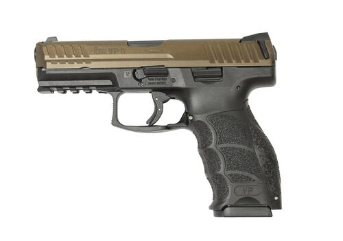 "HK VP9 9mm, 4"" Barrel, Ambi Safety, Midnight Bronze, German Made, 2x15rd Mags"