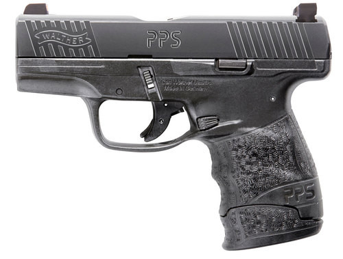 "Walther PPS M2 9mm, 3.2"" Barrel, XS F8 Night Sights, Black, 6rd/7rd"