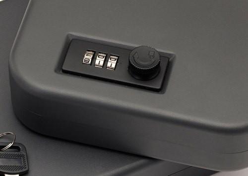 Snap Safe Lockbox Gun Safe Black, Large, Combo Lock