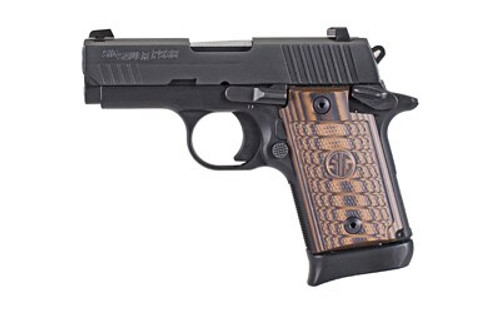 "Sig P938, 9mm, 3"" Barrel Select, Black, Sao, Siglite, Select, (1) 7RD/ (1) 6RD Steel Mag, Ambi Safety"