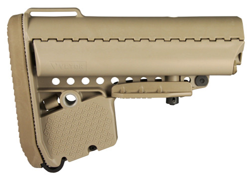 Vltor EMOD Buttstock AR-15 Mil-Spec Polymer Tan
