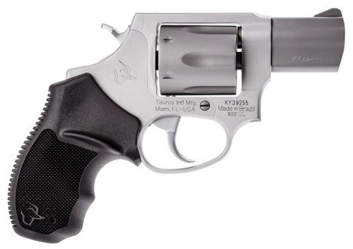 """Taurus, 856, Revolver, Small Frame, 38 Special, 2"""" Barrel, Alloy Frame, Stainless Finish, Rubber Grips, 6Rd, Fixed Sights"""