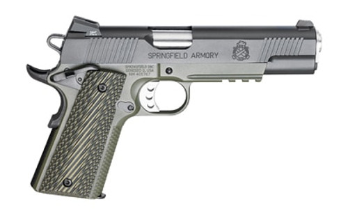 "Springfield, Loaded 1911, 45 ACP, 5"" Match Barrel, OD Armory Kote Frame Night Sights, Ambi Safety, G-10 Grips, 7Rd Mag"