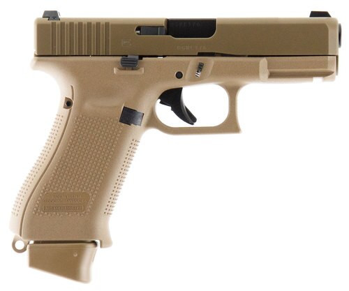 "GLOCK 19X 9MM 4"" Barrel, Flat Dark Earth COYOTE BROWN NIGHT SIGHTS 10RD MAG"