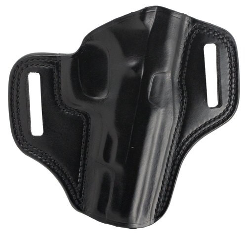 Galco Combat Master Belt Holster, Fits CZ 75B 9mm, Right Hand, Black Leather