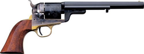 "Taylor's 1851 Navy C. Mason Single 38 Special, 5.5"", 6 Walnut, Blued"