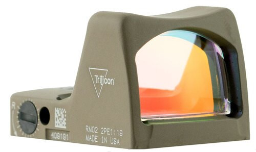 Trijicon RMR Type 2 1x Obj Unlimited Eye Relief 6.5 MOA Flat Dark Earth