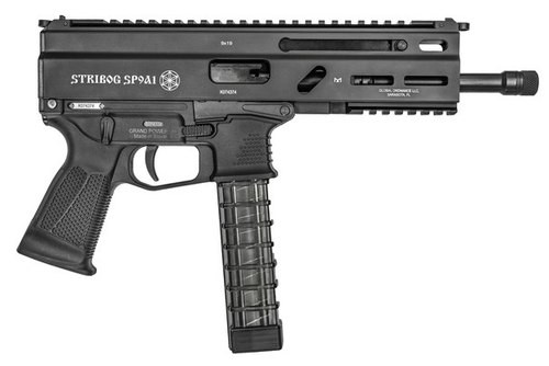 "Grand Power Stribog SP9A1 Gen2 Pistol 9mm, 8"" Barrel,  Hardcoat Anodized, M-Lok Rail, 3x30rd Mags"