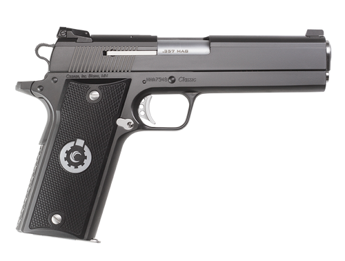 """Coonan Classic 357 Mag, 5"""", Black Ionbond Stainless, Adj. White Dot Sights, Black Alum Grips, 2 Mags (Special Order)"""