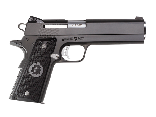 "Coonan MOT 45 ACP, 5"", Black Ionbond Stainless, Fixed White Dot Sights, Black Alum Grips, 1 Mag (Special Order)"