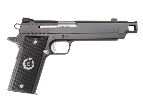 """Coonan Compensated 357 Mag, 5.7"""", Black Ionbond Stainless, Fixed Black Sights, Black Alum Grips, 1 Mag (Special Order)"""