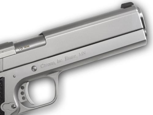 "Coonan MOT 10mm, 5"", Satin Stainless, Adj. White Dot Sights, Black Alum Grips, 2 Mags (Special Order)"