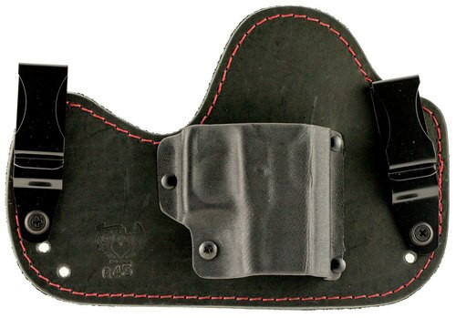 Flashbang Capone Glock 43 Leather/Thermoplastic Black/Red, RH
