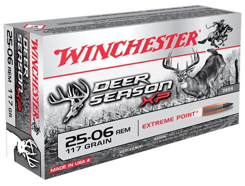 Winchester Deer Season XP 25-06 Rem 117gr, Extreme Point, 20rd Box