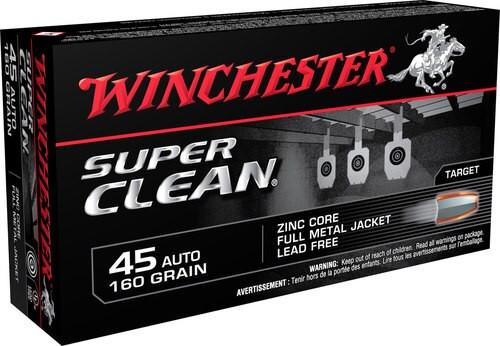 Winchester Super Clean 45 ACP, 165gr, FMJ, 50rd Box