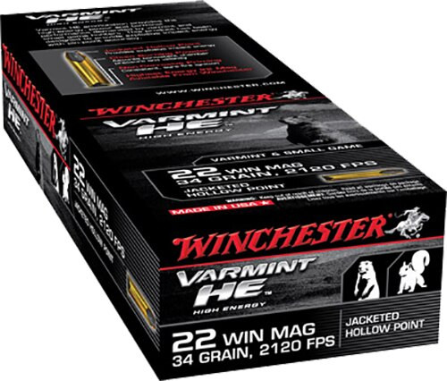 Winchester Supreme 22 WMR 34gr, Jacketed Hollow Point, 50rd Box