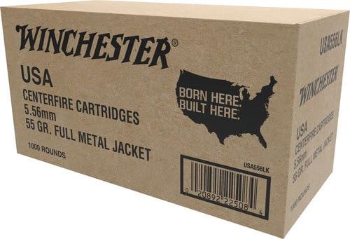 Winchester 5.56mm *VP* 55gr, FMJ, 1000rd/Case