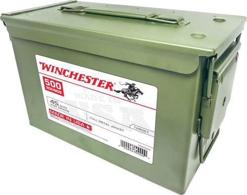 Winchester USA 45 ACP 230gr, FMJ, 500rd/Case