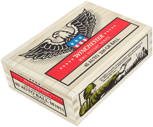 Winchester WWII Victory Series 45 ACP 230gr, FMJ, 50rd Box