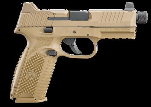 "FN 509 Tactical 9mm, 4.5"" Barrel, Night Sights, Flat Dark Earth, 17rd/24rd"