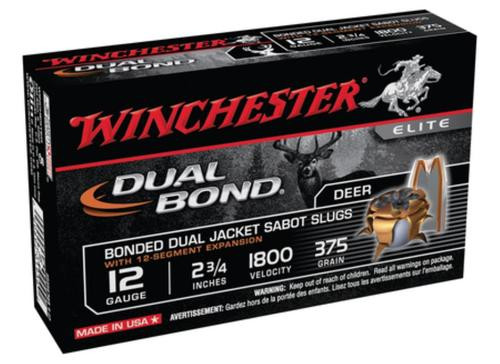 Winchester Dual Bond Fully Rifled Slug 12 Gauge 2.75 Inch 1800 FPS 375 Grain