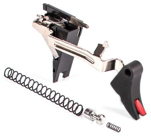 Zev Curved Trigger Drop In 9mm Black/Red, Glock Gen4