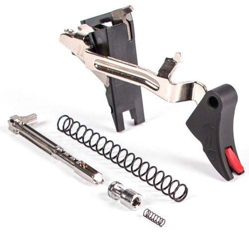 Zev Curved Trigger UltimateI 9mm Black/Red, Glock Gen4