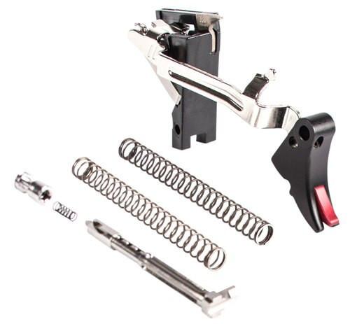 Zev Adjustable Fulcrum Ultimate Glock 9mm, Black/Red, Gen1-3