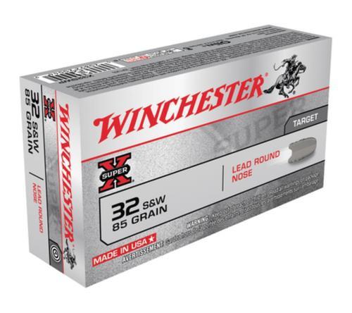 Winchester Super-X Handgun .32 S&W 85gr, Lead Round Nose