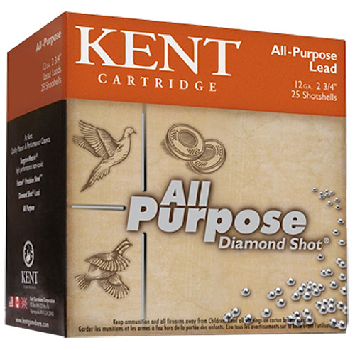 "Kent All Purpose Diamond Shot 12 Ga, 2.75"", 7 shot, 1.125oz, 25rd/Box"