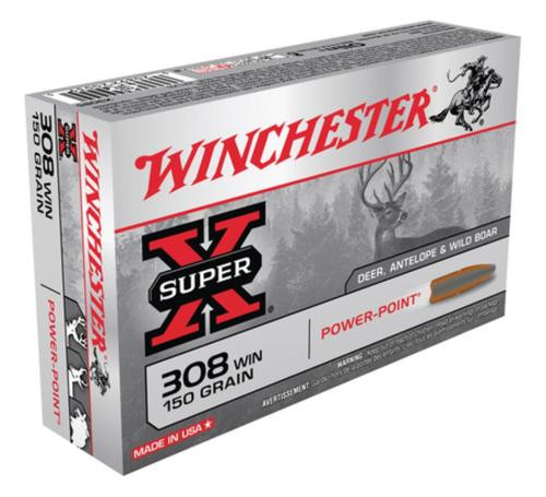 Winchester Super X 308 Winchester (7.62 NATO) Power-Point 150gr, 20Box/10Case