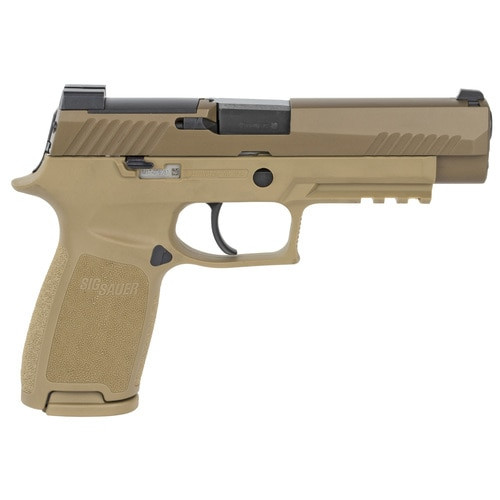 "Sig P320-M17 9MM 4.7"" Barrel NO Manual Safety, Night Sight Plate, 2- 17rd Mags"
