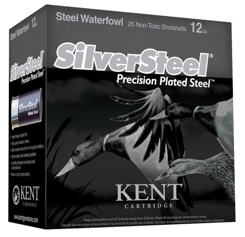 "Kent Silver Steel Precision 12 Ga, 3.5"", 1.5oz, #2 Shot, 250rd/Case"