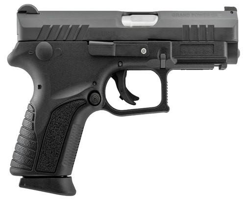 "Grand Power Q1S Double 9mm, 3.35"", Black Polymer Grip Black, 12rd"