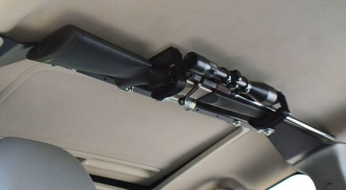 Great Day Center-Lok Overhead Gun Rack Black Aluminum