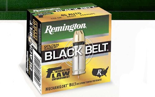 Remington Golden Saber Black Belt 45 ACP 230gr, JHP, 20rd Box