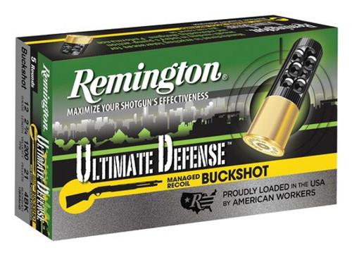 "Remington Ultimate Defense 12 Ga, 2.75"", Buckshot 21 Pellet, 5rd/Box"