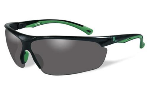 Remington Wiley X RE 500 Shooting/Sporting Glasses Black/Green Frame Smoke Gray