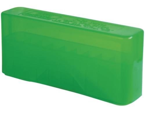 MTM Case Gard J-20 Slip-Top Boxes .22-250/.243/6PPC Clear Green