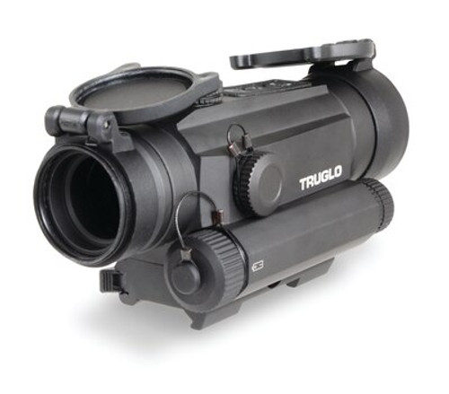Truglo, Tru-Tec, Red Dot, 30mm, Fits Picatinny/Weaver, 2MOA Reticle, Black, 650nm Red Laser, Quick Detach Mounting System