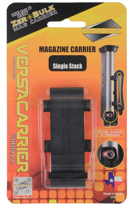 Versacarry Versacarrier Magazine Carrier Double Stack 9mm Plastic Black