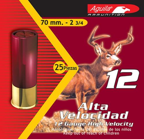 "Aguila Hunting 12 Ga, 2.75"", Lead, 1-1/4oz, 8 Shot, 25rd/Box"