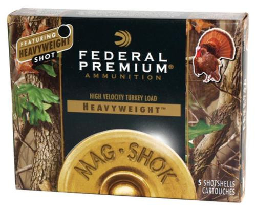 Federal Mag-Shok Heavyweight Turkey Load 12 Gauge 3 Inch 1300 FPS 1.625 Ounce 6 Shot 5 Per Box