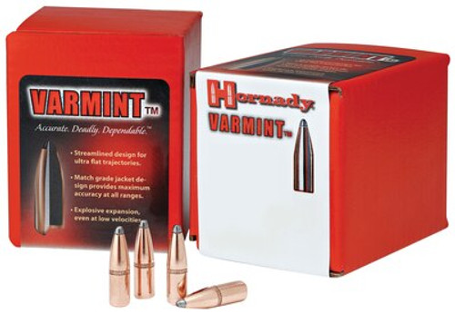 Hornady Rifle Bullets .257 Diameter 117gr Round Nose Interlock, 100/Box