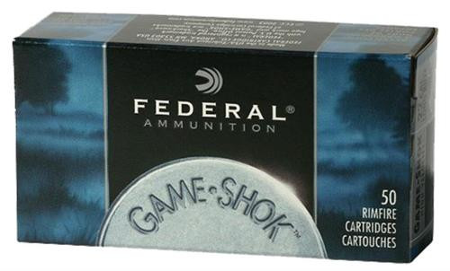 Federal Game-Shok, 22LR, 31 Gr, Copper Plated HP, 50rd Box
